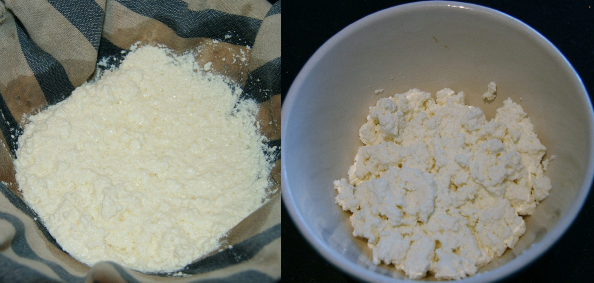 Easy homemade ricotta