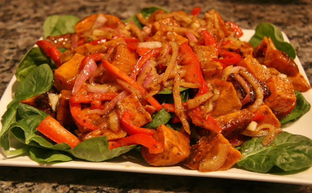 Curried Sweet Potato Salad - Wholly Delish!