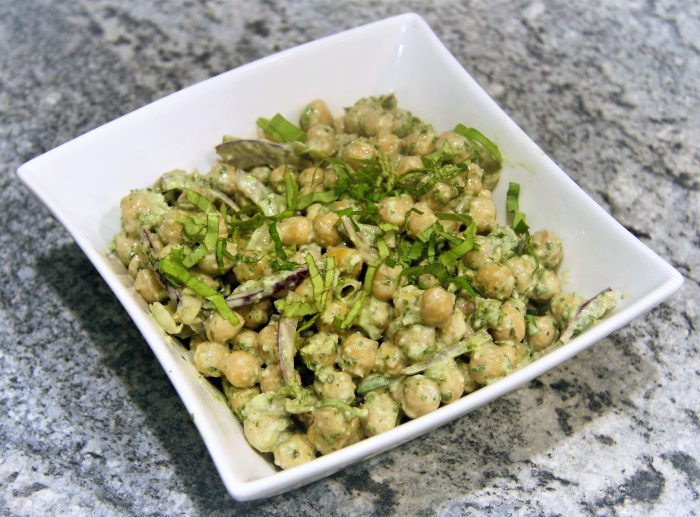 Chickpeas with Pesto