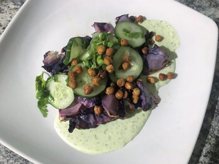 Roasted Cabbage Salad
